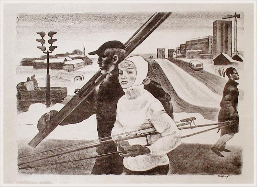 Щеглов Николай Валерианович (Россия, 1934) «Конец зимы» 1965
