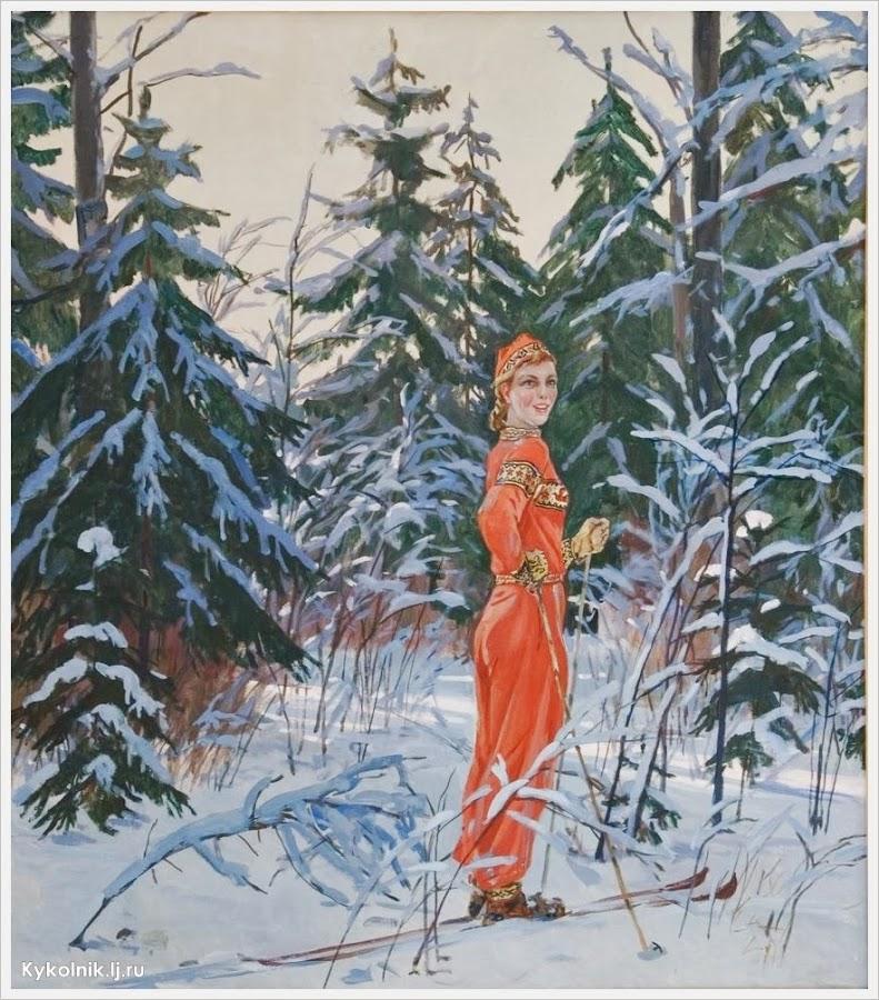 Дейнека Александр Александрович (Россия, 1899 - 1969) «Снегурочка» 1954