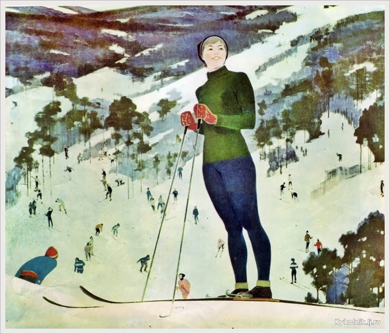 Смукрович Пётр Петрович (Россия, 1928-1998) «На лыжах»