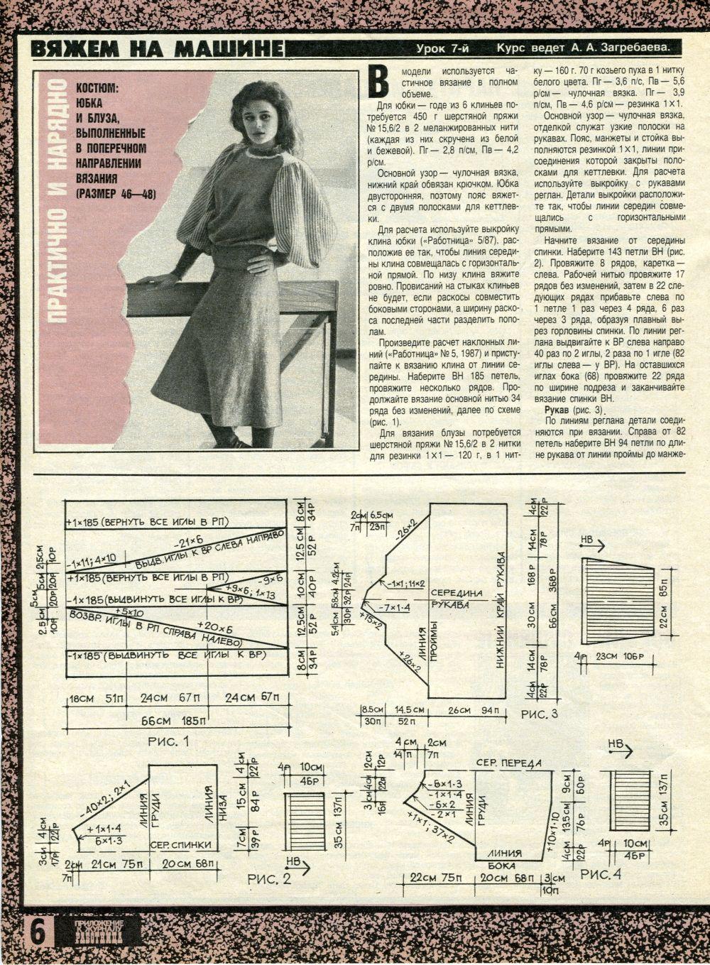 Приложение к журналу «Работница», 87 год, № 10 2