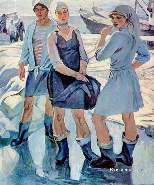 Волков Юрий Александрович (Россия, 1919–1990) «Девчата с Шикотана».jpg