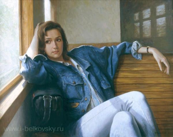 Белковский Игорь Владимирович (Россия, 1962) «В электричке» 1991.jpg