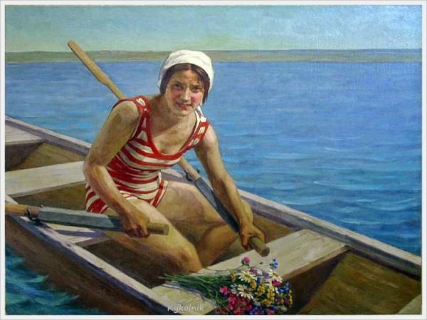 Соколов Михаил Георгиевич (Россия, 1875-1953) «Девушка с цветами».jpg
