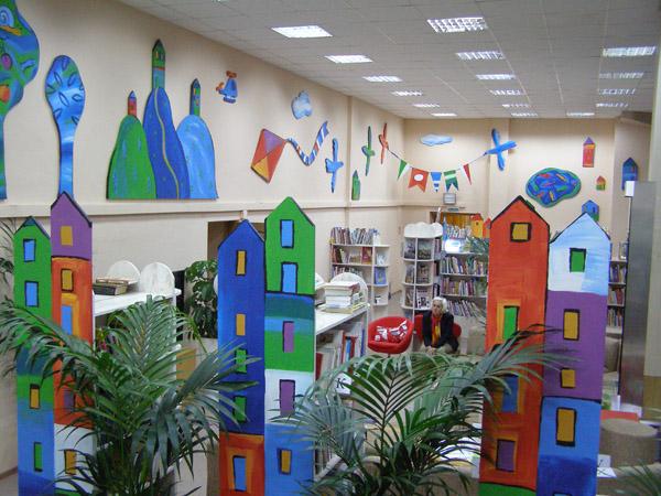 Как мы оформляли библиотеку - природой данное небо.