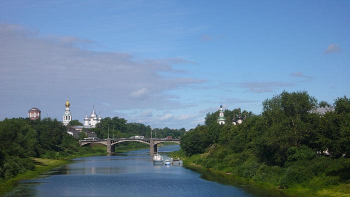 Пейзаж на Кремль по реке