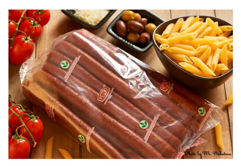 салат из пасты с колбасками приготовление2.jpg