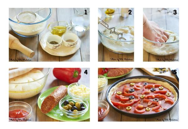 пицца с пепперони приготовление