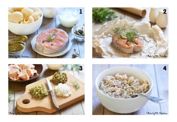 лумакони с лососем приготовление