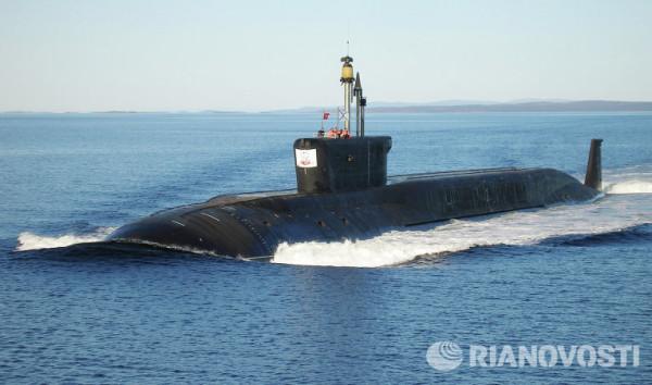 Самая большая подлодка в мире вышла на учения в Белое море(с) РИА Новости