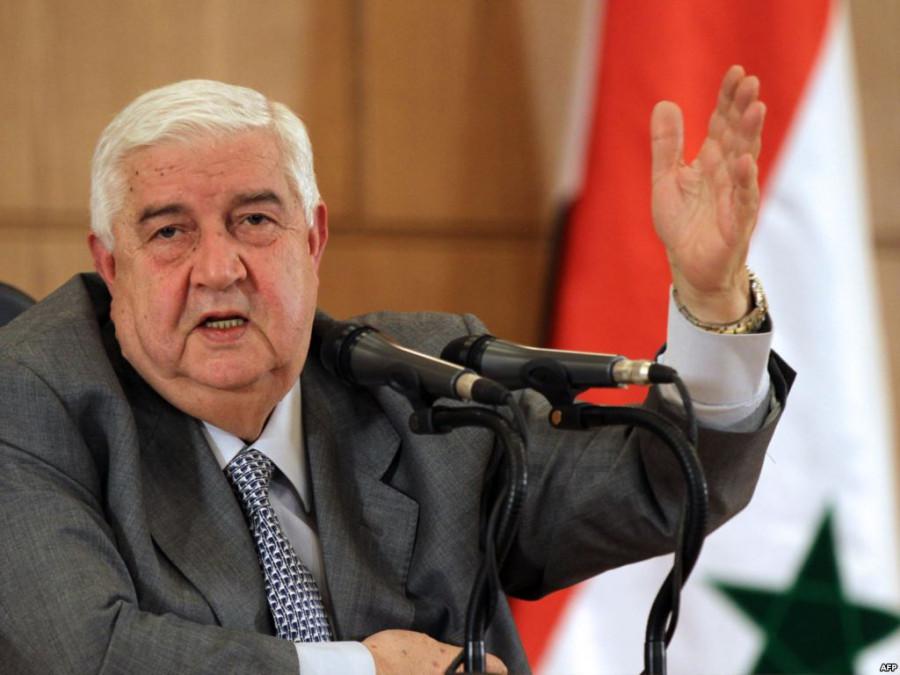 Валид Муаллем демонстрирует куда должна направиться сирийская оппозиция в связи с её требованиями