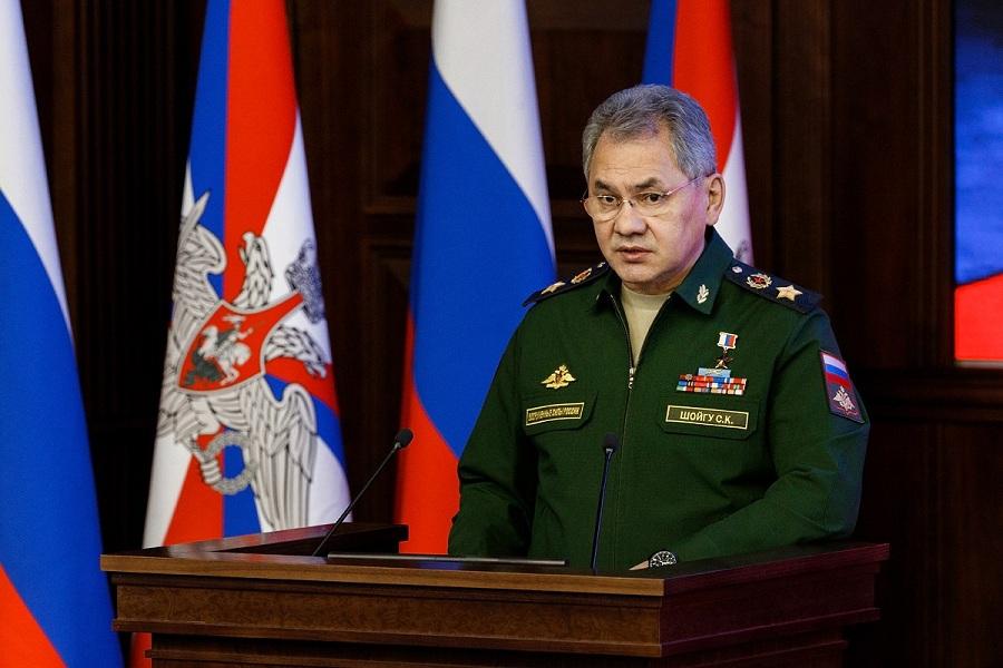 Шойгу выступает с лекцией(с)МО РФ