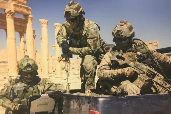 Бойцы ССО МО РФ в Пальмире(с)МО