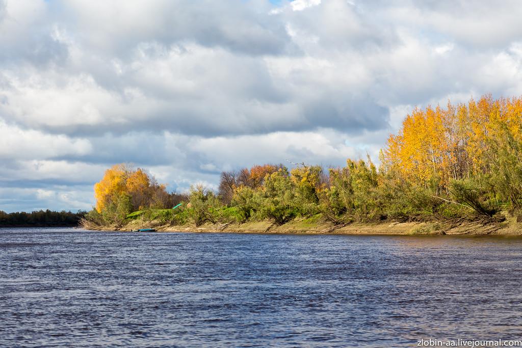 Осенний пейзаж на воде