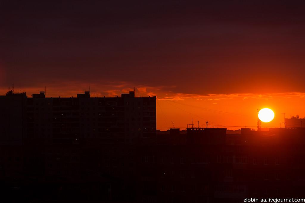 Яркий закат прекрасного дня