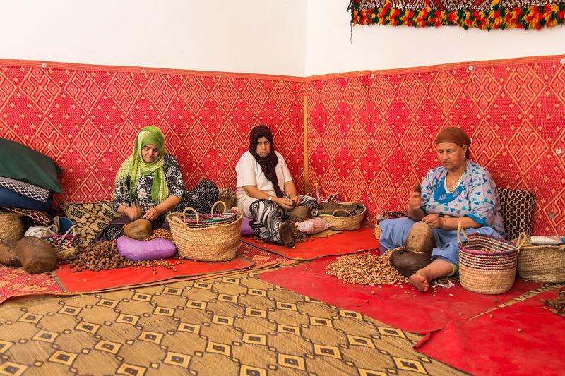 Производство органового масла в Марокко