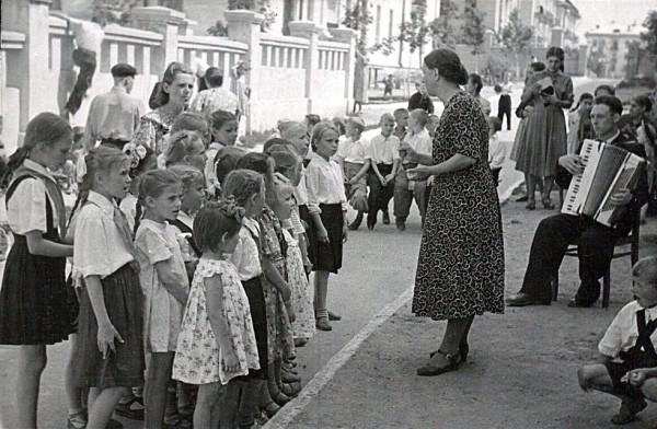 Песни пионеров, К.Т. Швец, снято 23.07.1957