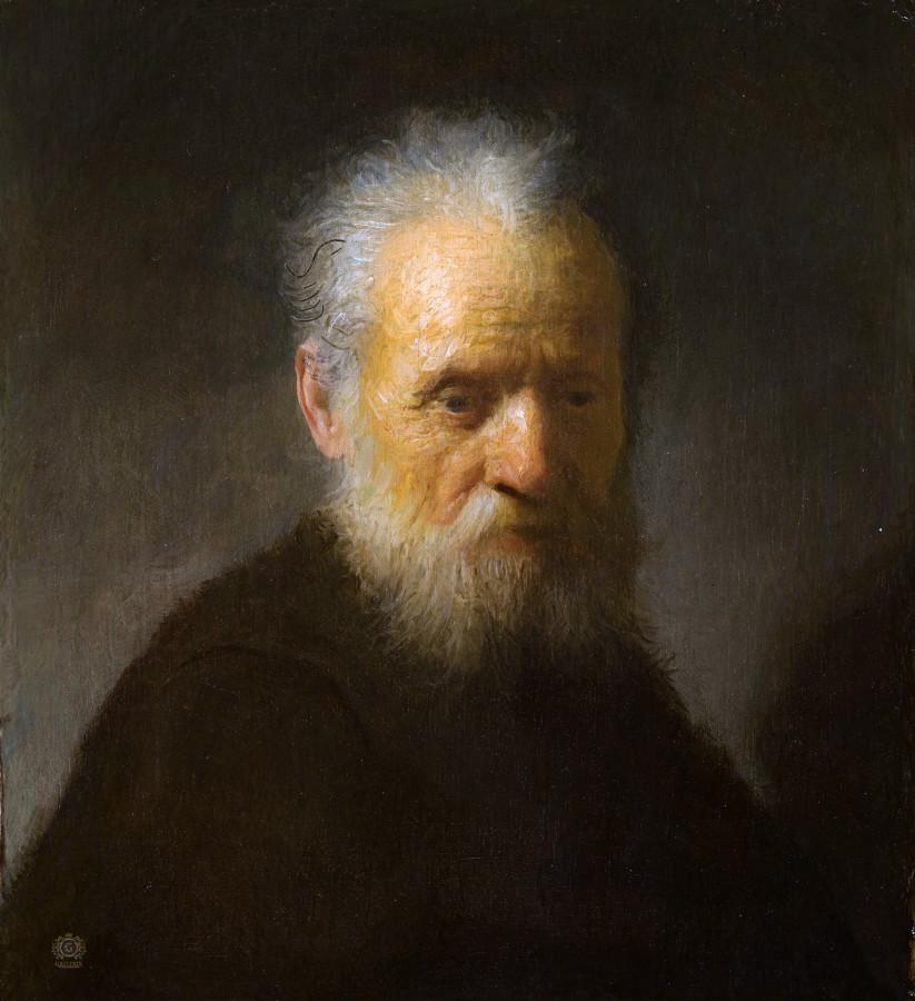 Старик с бородой. Рембрандт. Портреты. 1606/1609 г.