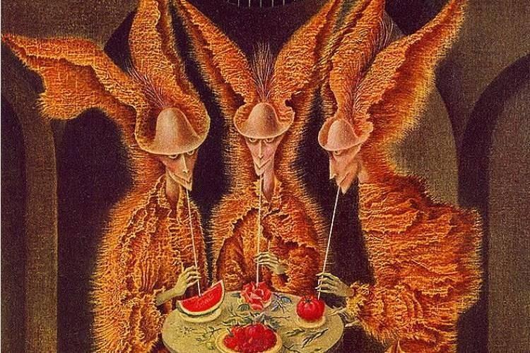 "Фрагмент картины Ремедиос Варо ""Вампиры-вегетарианцы"""