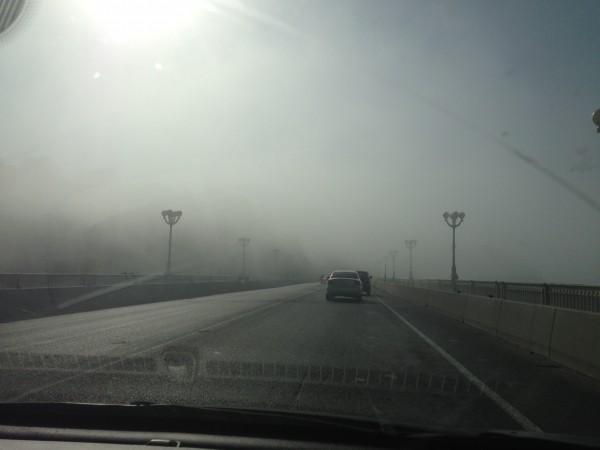 Сочи. Туман на Мацесте