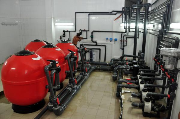 оборудование в бассейне санатория Знание