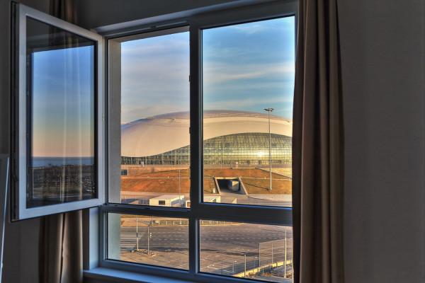 вид из окна номера в олимпийской деревне