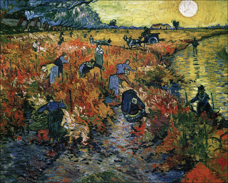 The Red Vineyards in Arles (croped version), 1888_cleaned