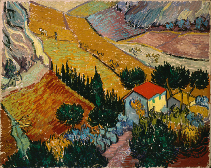 Landscape with House and Ploughman, 1889_cleaned