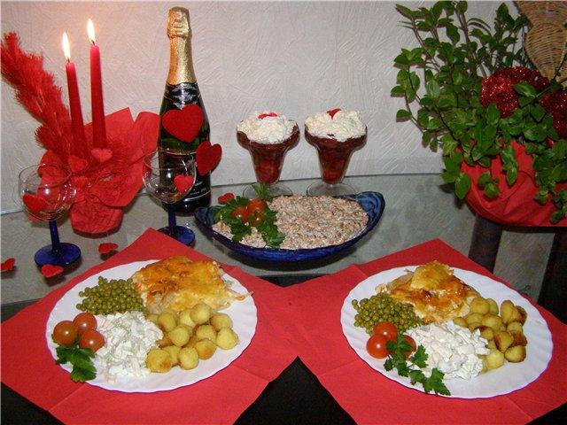 ужин для годовщины знакомства