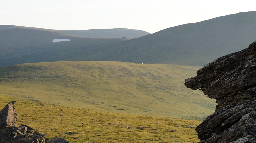 Вид на первал Дятлова-ж