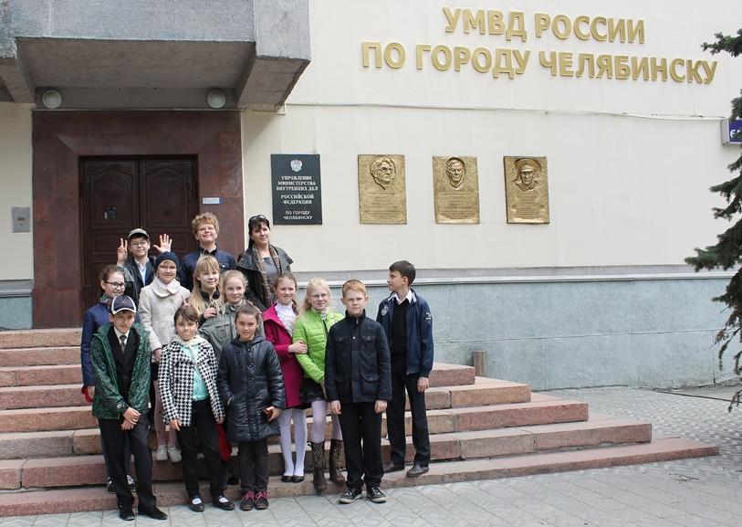 Дети побывали на экскурсии в полиции