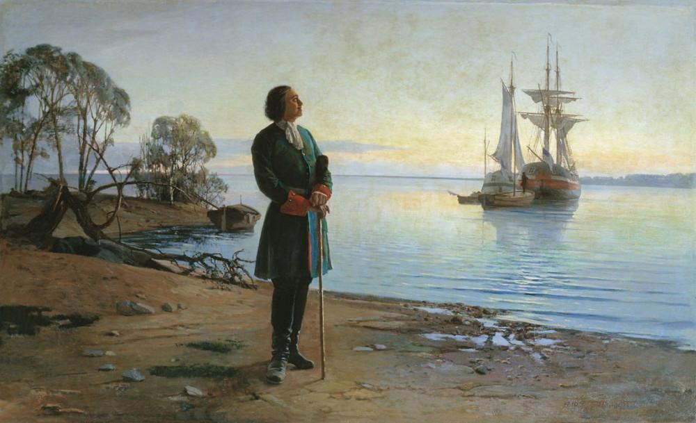 картинка петр первый основатель флота ведущих