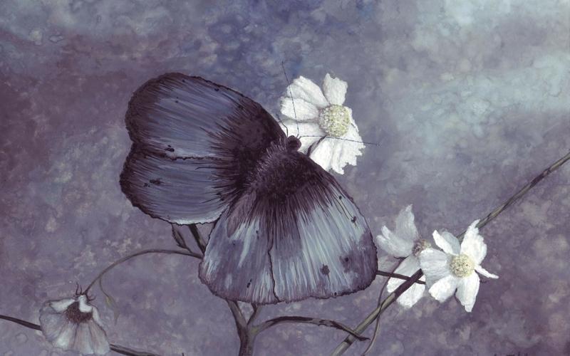 Героиня древнегреческой мифологии в образе бабочки с крыльями