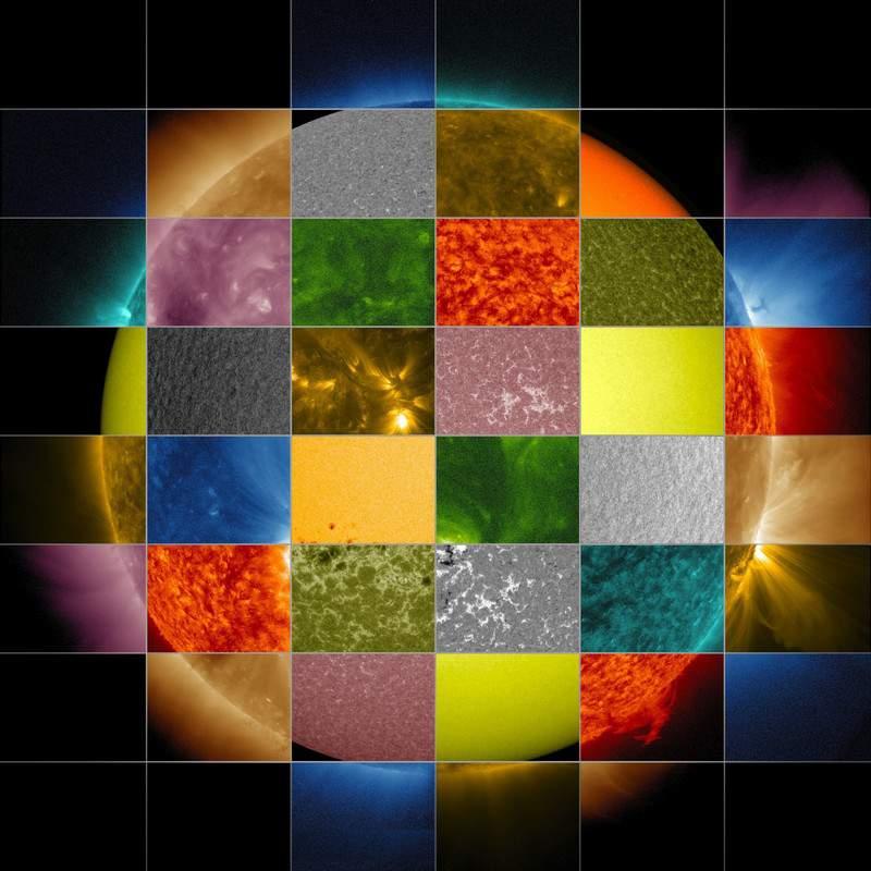 Разноцветное Солнце...