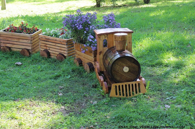 Клумба паровозик своими руками Cамоделки для дачи