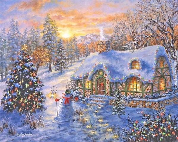 Волшебный праздник на пороге.Нежная, зимняя сказка от Nicky Boehme