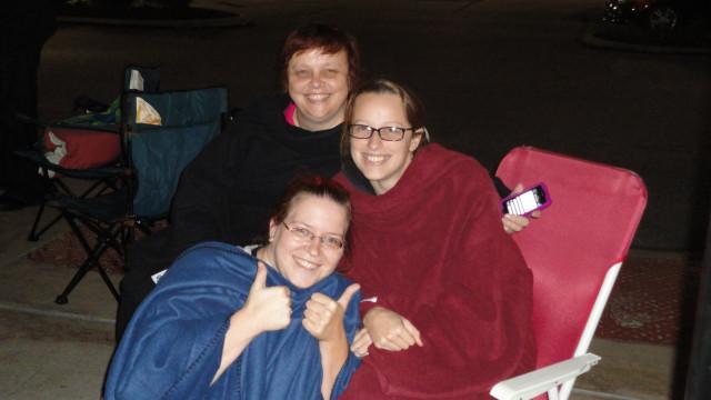 Cuddled up in fleece