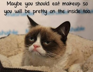 grumpy makeup