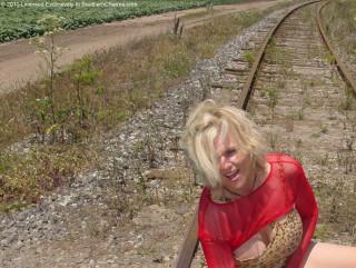 Zoe Zane Railroad Tracks Santa Cruz Calif