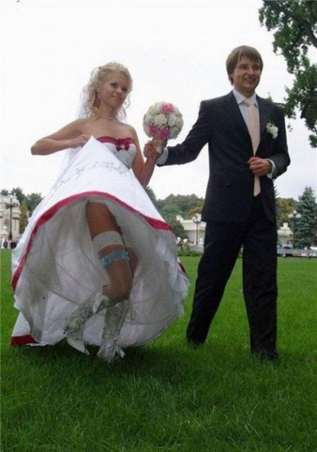 под платьем у невесты фото
