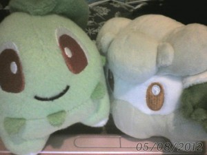 Chikorita and Cottonee Pokedolls