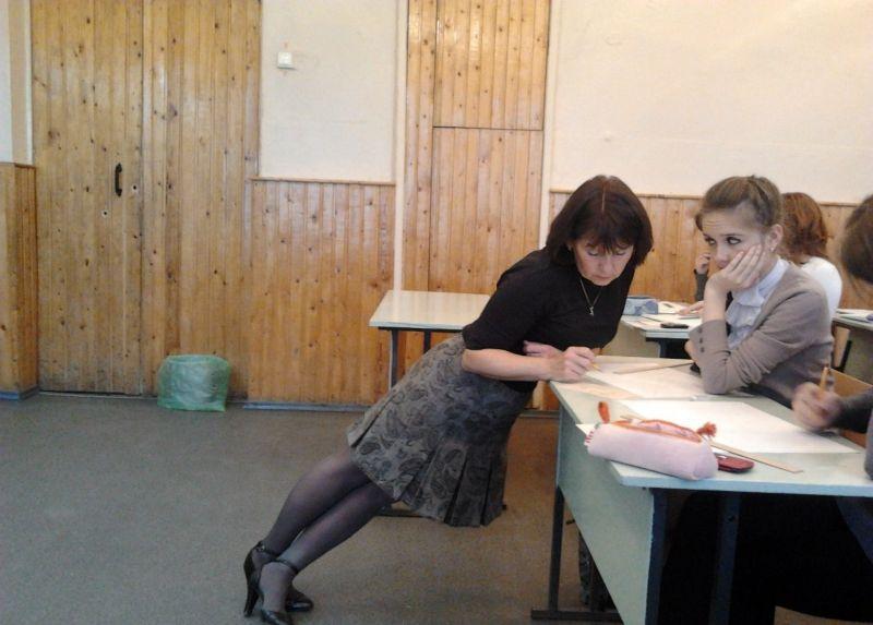 Училка по химии с учеником