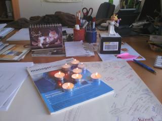 Kerzen für Chile