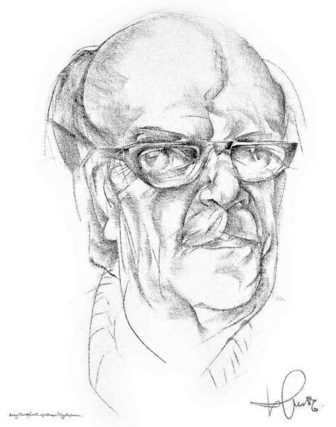 David Samoylov - ris Borisa Zhutovskogo