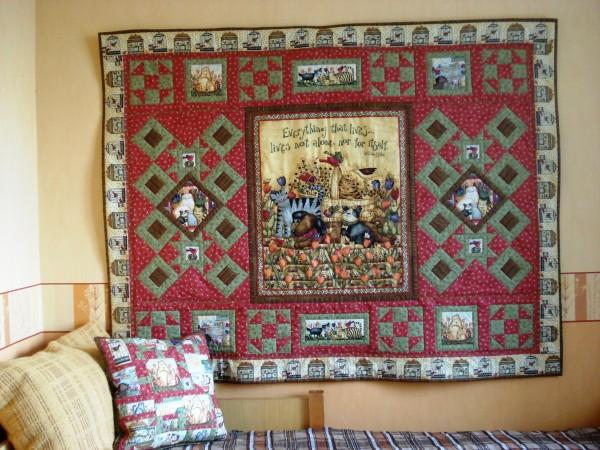 Лоскутные коврики и сырые стены., лоскутное шитье