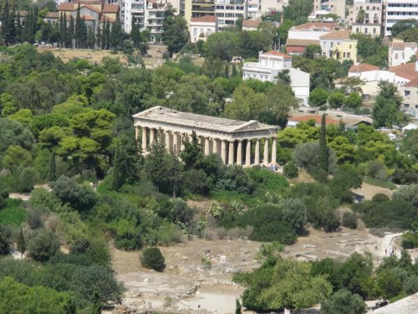 Вид на храм Гефеста