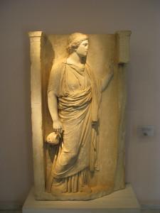 Надгробие в Музее Керамикос
