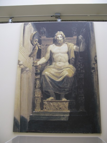 Картина с изображением статуи Зевса