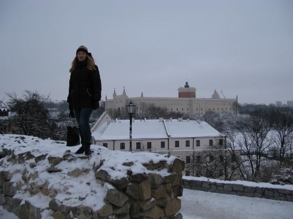 Я на фоне Люблинского замка