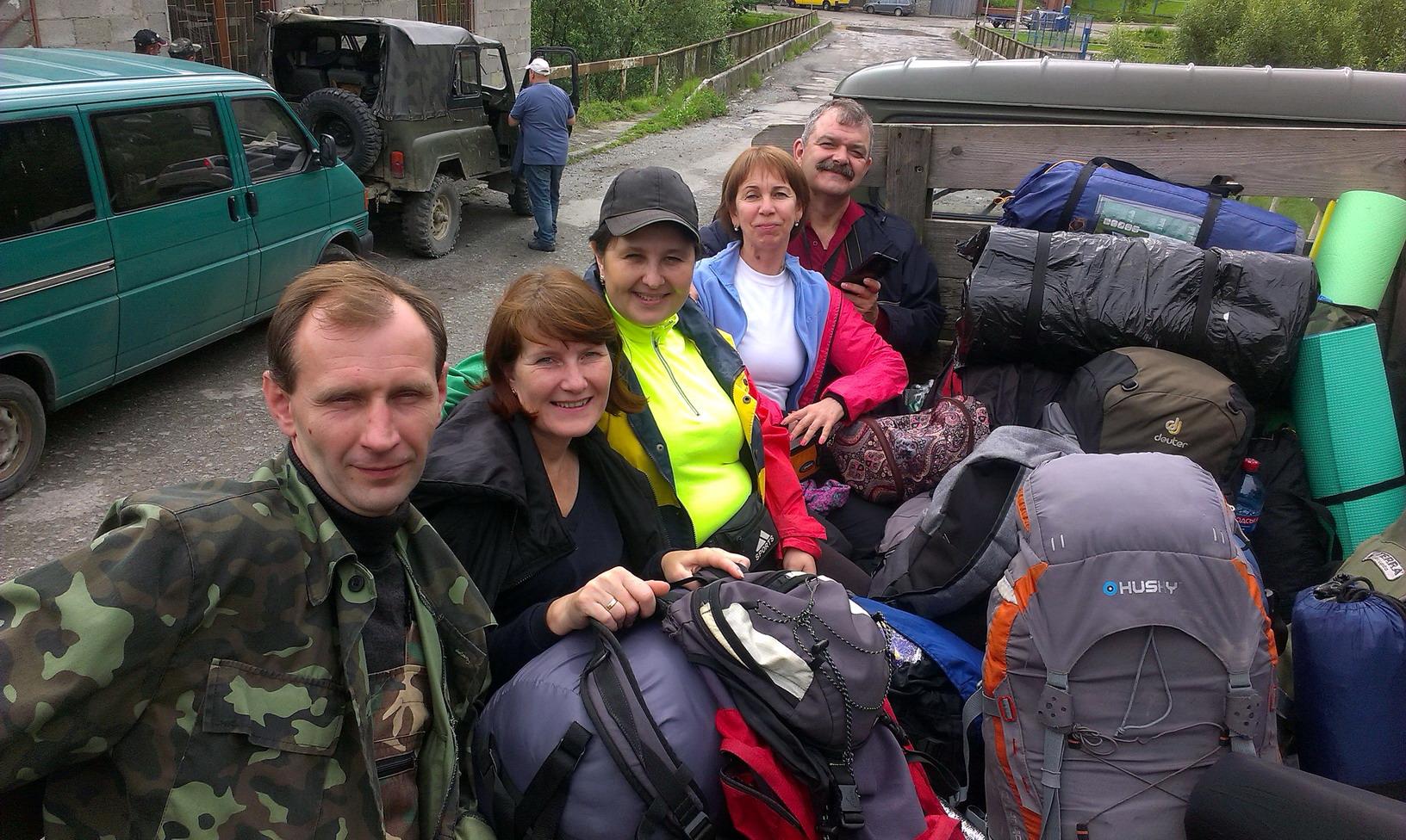 Початок походу, село Ділове, центр Європи