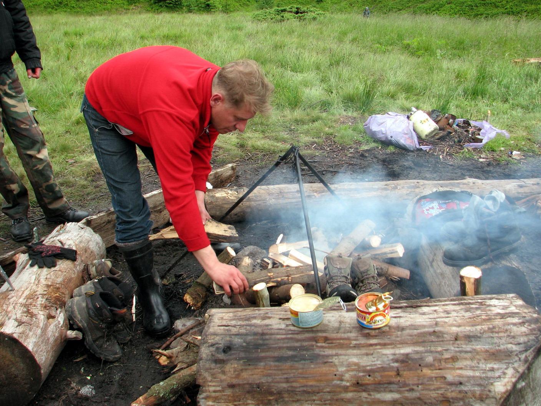 Найбільше біля вогнища працював Олег